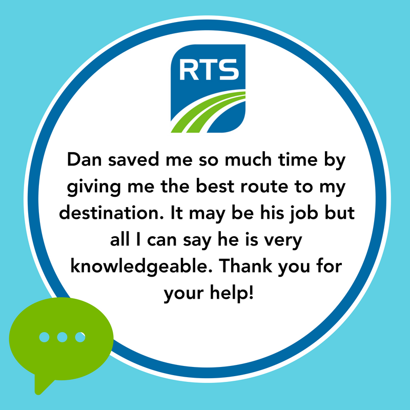 """Dan saved me so much time by giving me the best route to my destination. It may be his job but all I can say is he is very knowledgeable. Thank you for your help!"""