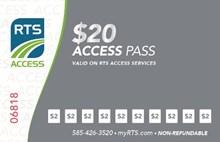 $20.00 RTS Access Pass Access-20Pass
