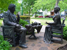 Let's Have Tea statue. Source: Visit Rochester