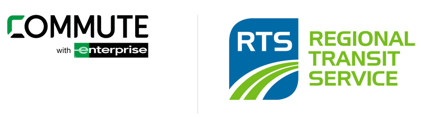 commute with enterprise and RTS logos