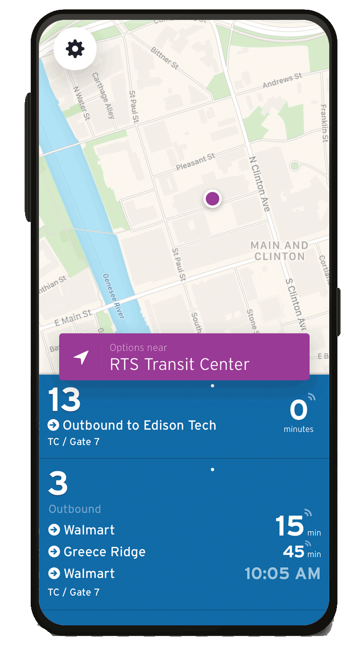 Image of the Transit app on a phone